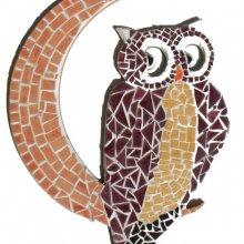 DECORATION HIBOU/LUNE