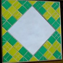 KIT MOSAIQUE MIROIR CITRON